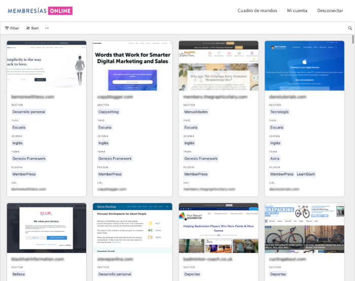 Directorio Membership Sites